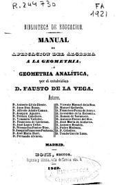 Manual de aplicación del álgebra a la geometría o Geometría analítica