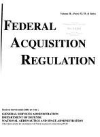 Federal Acquisition Regulation  Parts 52  53    index  2 pts   PDF