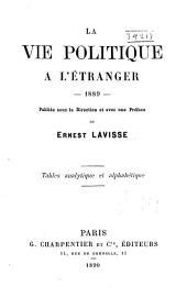 La Vie politique à l'étranger: Volume1