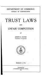 Trust Laws And Unfair Competition Book PDF
