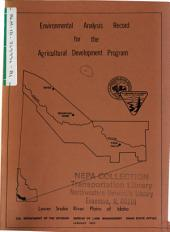 Lower Snake River Plains Agricultural Development Program, Environmental Analysis Record