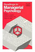 Readings in Managerial Psychology PDF