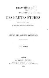 Bibliothèque de l'École des hautes études: Volume37