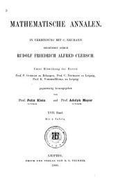 Mathematische Annalen: Volume 17