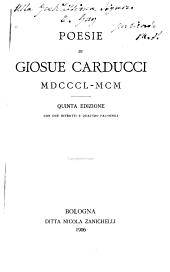 Poesie di Giosuè Carducci: 1850-1900