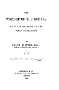 The Worship of the Romans PDF