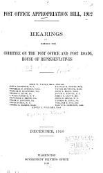 Post Office Appropriation Bill  1912 PDF