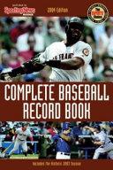 Complete Baseball Record Book