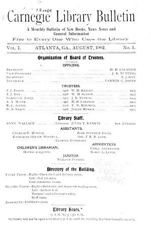 Carnegie Library Bulletin PDF