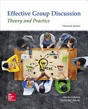 Looseleaf for Effective Group Discussion  Theory and Practice PDF