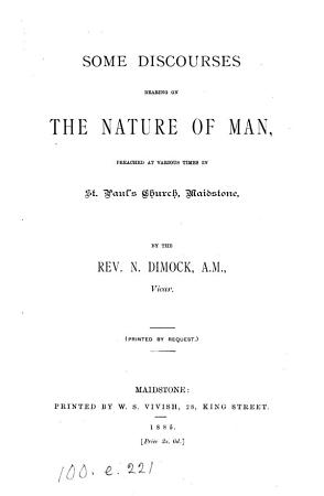 Some discourses bearing on the nature of man PDF