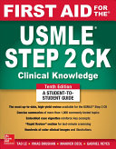 First Aid for the USMLE Step 2 CK  Tenth Edition