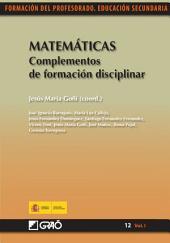 Matemáticas. Complementos de formación disciplinar