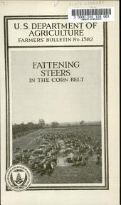 Fattening Steers in the Corn Belt