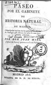 Paseo por el Gabinete de Historia Natural de Madrid: ó descripción sucinta de los principales objetos de zoología que ofrecen las salas de esta interesante colección