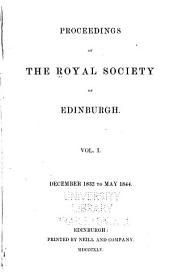 Proceedings of the Royal Society of Edinburgh: Volume 1