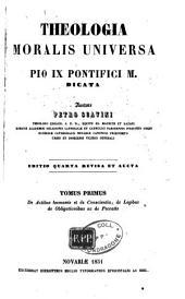 Theologia moralis universa: Volume 1