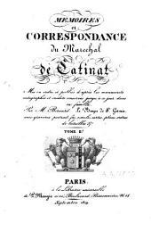 Mémoires et correspondance du Maréchal de Catinat: mis en ordre et publiés d'après les manuscrits autographes et inédits conservés jusqu'à ce jour dans sa famille, Volume2