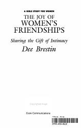 The Joy Of Women S Friendships Book PDF