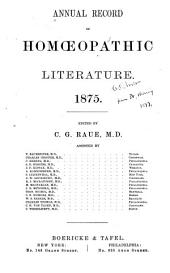 Annual Record of Homœopathic Literature