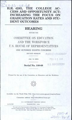 H R  4283  the College Access and Opportunity Act PDF
