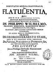 Disputatio medica inauguralis De flatulentia