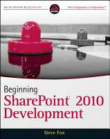 Beginning SharePoint 2010 Development PDF