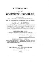 Discours sur les révolutions de la surface du globe, et recherches sur les ossemans fossiles: Volumes1à2