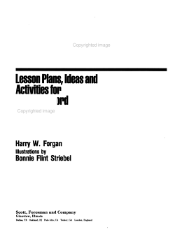 Lesson Plans  Ideas  and Activities for Teaching Word Recognition Skills PDF