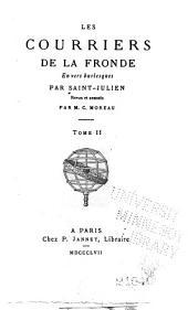 Les courriers de la Fronde en vers burlesques: Volume2