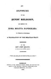 An Exposure of the Hindu Religion: In Reply to Mora Bhatta Dandekara