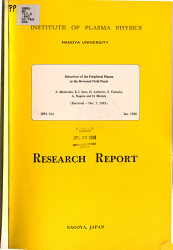 Behaviour Of The Peripheral Plasma In The Reversed Field Pinch Book PDF