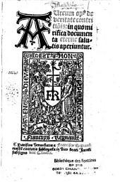 Aureum op[us] de veritate contritio[n]is : in quo mirifica documenta salutis aperiuntur