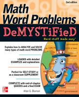 Math Word Problems Demystified 2 E PDF