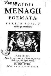 Ægidii Menagii Poemata