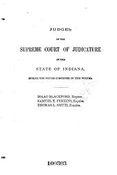 Reports of Cases Decided in the Supreme Court of the State of Indiana: Volume 1