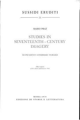 Studies In Seventeenth Century Imagery