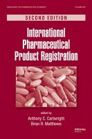 International Pharmaceutical Product Registration  Second Edition PDF