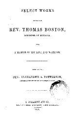 Select Works of Thomas Boston