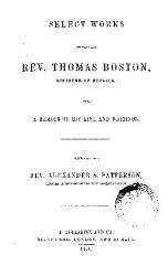 Select Works Of Thomas Boston Book PDF