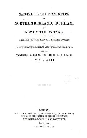 Natural History Transactions of Northumberland  Durham  and Newcastle upon Tyne