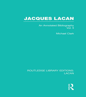 Jacques Lacan  Volume II   RLE  Lacan  PDF