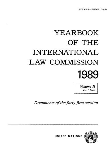 Yearbook of the International Law Commission 1989  Vol  II  Part 1 PDF
