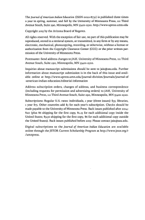 Journal of American Indian Education PDF