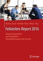 Fehlzeiten Report 2016 PDF