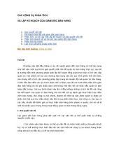 Công cụ phân tích và lập kế hoạch của giám đốc bán hàng: Tài Liệu