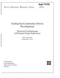 Scaling Up Community Driven Development Book PDF