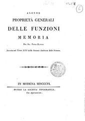 Alcune proprietà generali delle funzioni memoria del sig. Paolo Ruffini inserita nel tomo 13. della Società italiana delle scienze