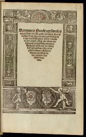 Sermones quadragesimales, qui discipuli vulgo dici solent