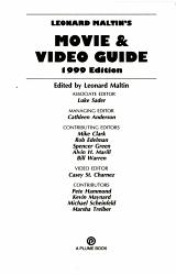 Leonard Maltin s Movie and Video Guide 1999 PDF
